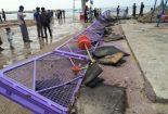 گردشگران سیل زده در بندر دیر اسکان یافتند/۵ نفر مفقود شدند