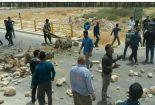 مردم انارستان جاده را بستند/ توضیحات فرماندار جم+عکس