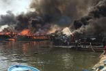 آتش سوزی در اسکله بندر کنگان + فیلم