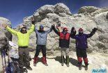 گزارش تصویری: صعود کوهنوردان کنگانی به قله دماوند